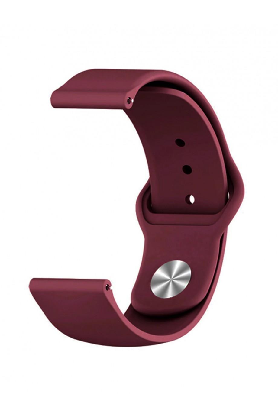 Силиконовый ремешок для Amazfit Pace, 22 мм, застежка pin-and-tuck, вишневый, mz-05