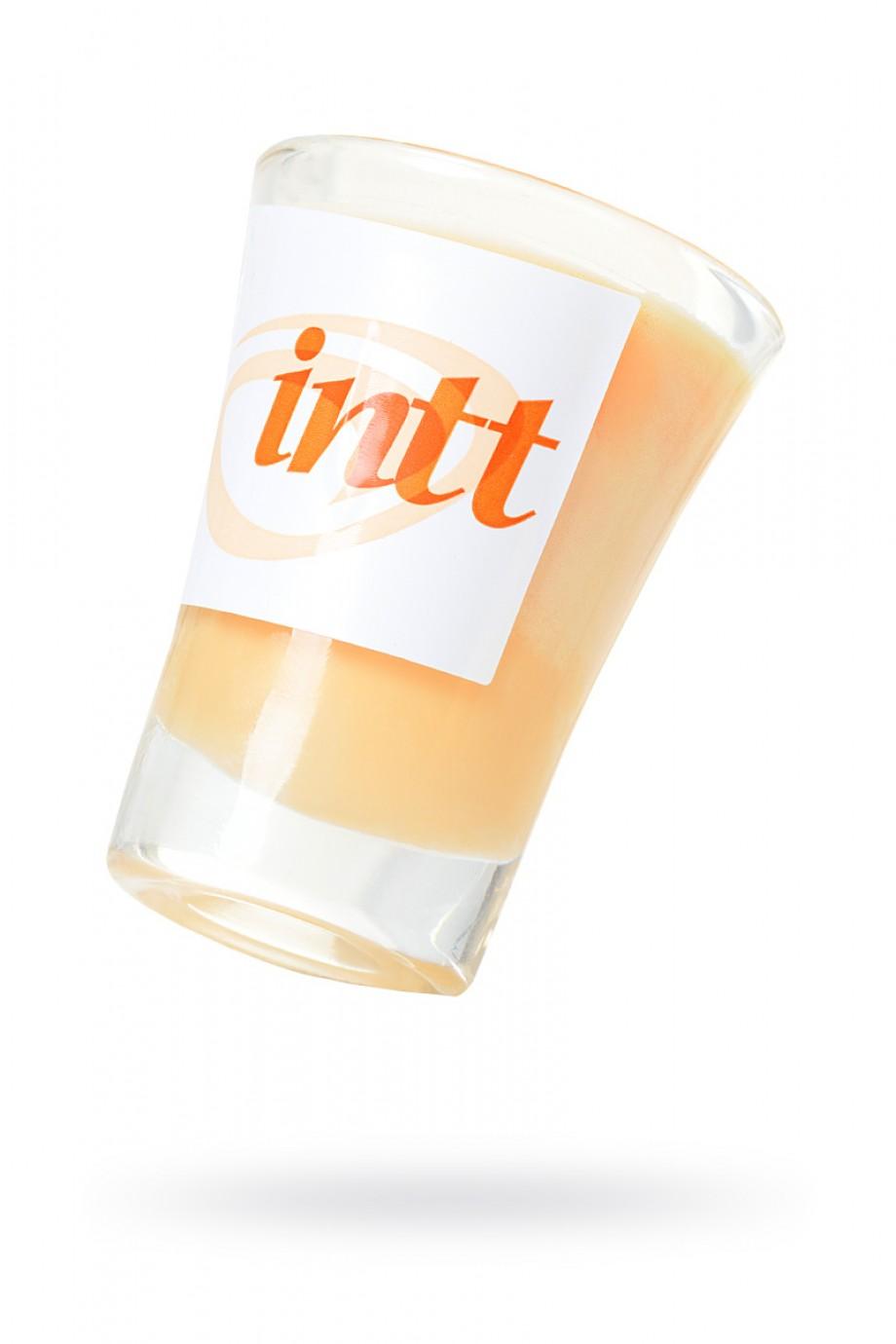 Массажная свеча для поцелуев INTT Peach с ароматом персика, 30 мл