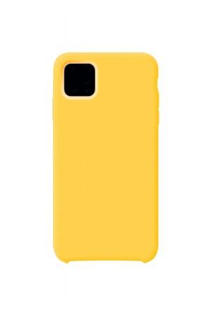 Чехол силиконовый для iPhone 11, плотный, мягкая подложка, желтый