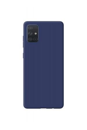 Чехол силиконовый для Samsung Galaxy A51, синий