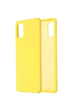 Чехол силиконовый для Samsung Galaxy A71, мягкая подложка, желтый