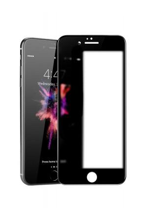 Защитное стекло 3D Ainy для iPhone 6 Plus, матовое, черная рамка, полный клей