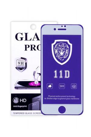 Защитное стекло 11D Glass Pro для iPhone 7, белая рамка, полный клей, mk072