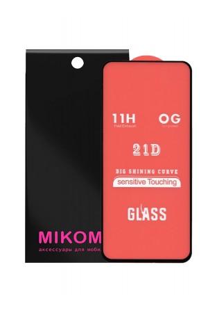 Защитное стекло 21D Mikomo для Samsung Galaxy A51, черная рамка, полный клей