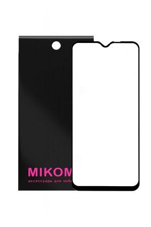 Защитное стекло 5D Mikomo для Xiaomi Redmi Note 8 Pro, черная рамка, полный клей
