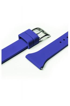 Силиконовый ремешок для Amazfit Stratos, 22 мм, застежка пряжка, синий, mkx055