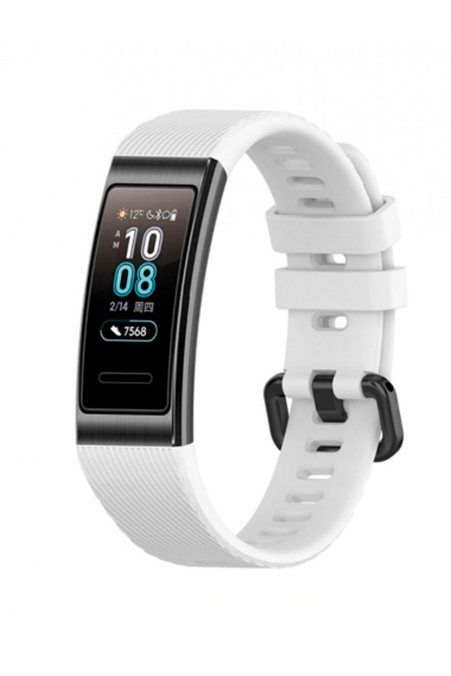 Силиконовый ремешок для Huawei Band 3, белый