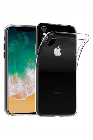 Чехол силиконовый для iPhone XS, прозрачный