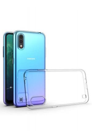 Чехол силиконовый для Samsung Galaxy A01, прозрачный