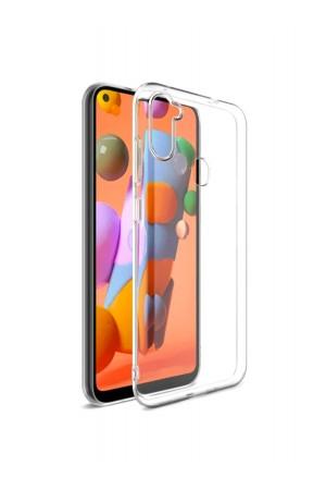 Чехол силиконовый для Samsung Galaxy A11, прозрачный