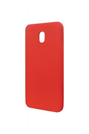 Чехол силиконовый Brauffen для Xiaomi Redmi 8A, мягкая подложка, красный