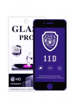 Защитное стекло 11D Glass Pro для iPhone 8, черная рамка, полный клей, mk071