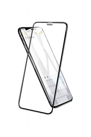 Защитное стекло 3D Ainy для iPhone 11 Pro Max, фильтр от пыли, черная рамка, полный клей, mk057