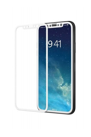 Защитное стекло 3D Ainy для iPhone XS, белая рамка, полный клей, mk080