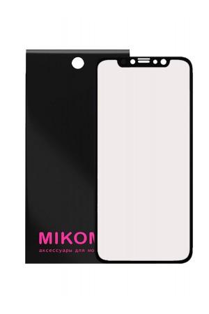 Защитная пленка 3D Mikomo для iPhone XR, черная рамка, полный клей