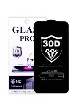 Защитное стекло 30D Glass Pro для Samsung Galaxy A51, черная рамка, полный клей