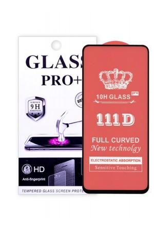 Защитное стекло 111D Glass Pro для Samsung Galaxy A71, черная рамка, полный клей