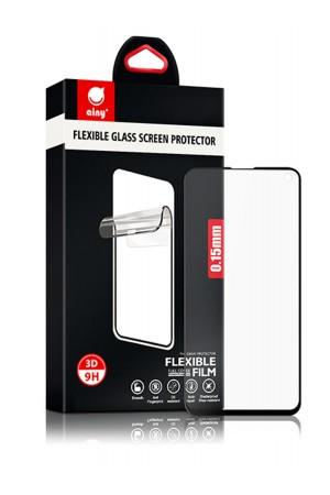 Гибридное защитное стекло 3D Ainy для Samsung Galaxy S10e, черная рамка, полный клей