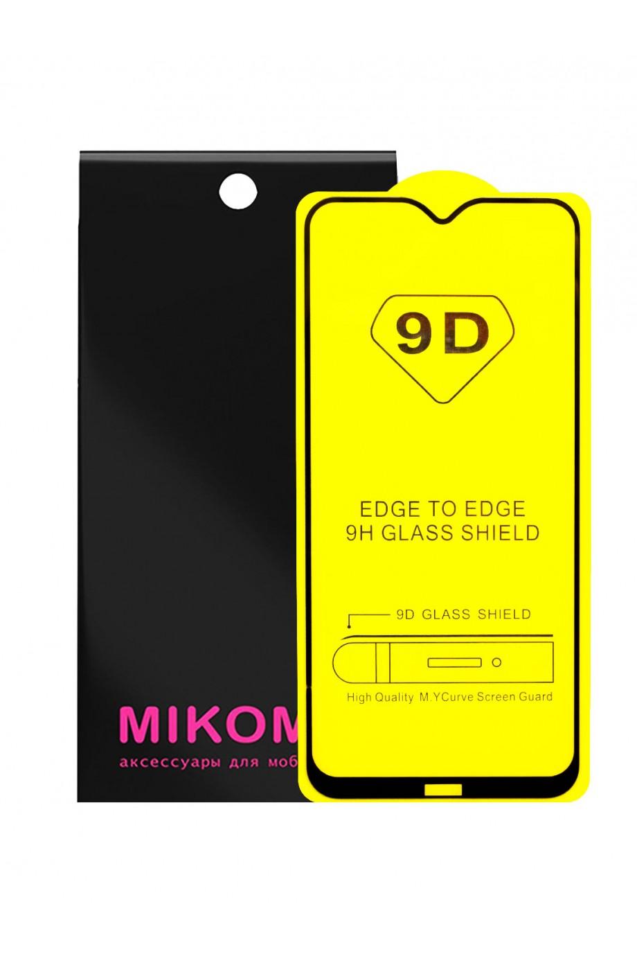 Защитное стекло 9D Mikomo для Xiaomi Redmi 8A, черная рамка, полный клей