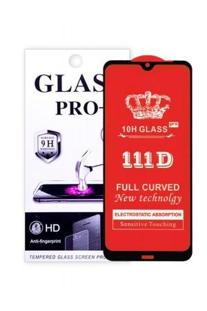 Защитное стекло 111D Glass Pro для Xiaomi Redmi Note 8T, черная рамка, полный клей