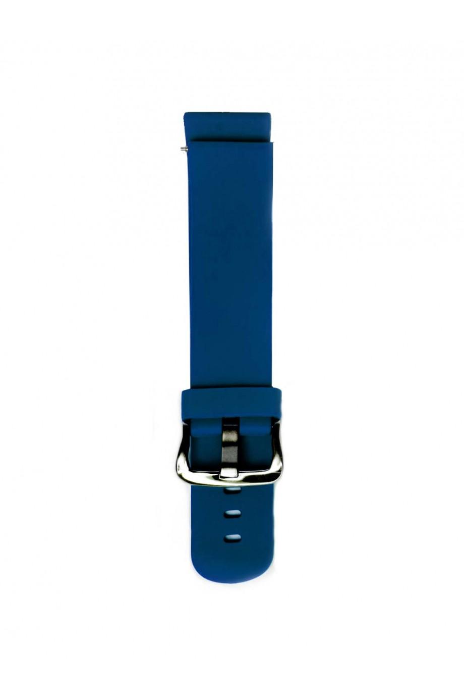 Силиконовый ремешок для Amazfit Stratos 2s, 22 мм, темно-синий, mc-03