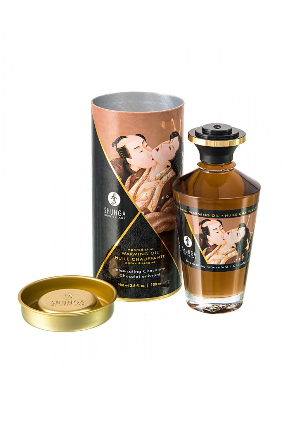 Масло для массажа Shunga Intoxicating Chocolate, разогревающее, с ароматом шоколада, 100 мл
